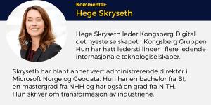 Hege Skryseth, Kongsberg Digital