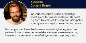 Johan Brand, Lederblikk